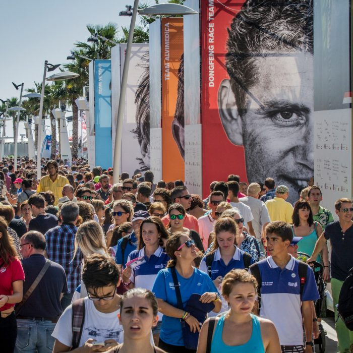 October 09, 2014. Activity in the Race Village in Alicante.