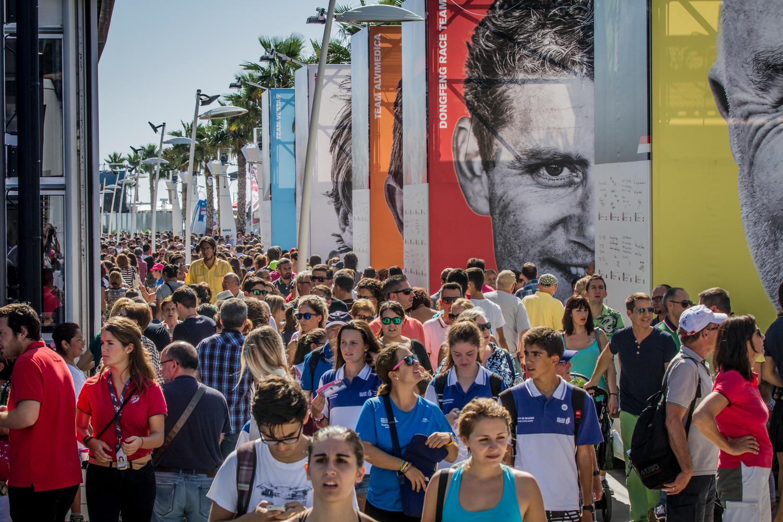 October 09, 2014. Activity in the Race Village in Alicante.